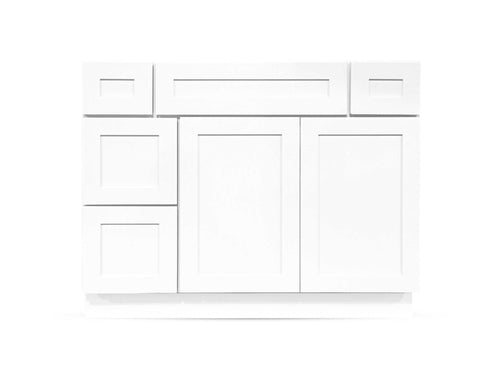 42 Bright White Shaker Drawers Right