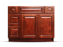 Load image into Gallery viewer, 42 Inch Bathroom Cabinet Vanity Cherry Left Drawers