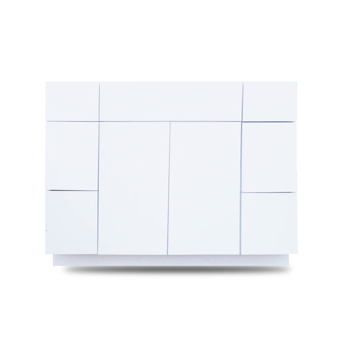 42 Inch Bathroom Cabinet Vanity Blanco Polished LEFT/Right  Drawers