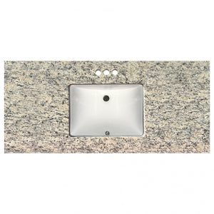 "49"" Wide x 22"" Deep Prefab Vanity Top Sana Gold 3cm 4683"