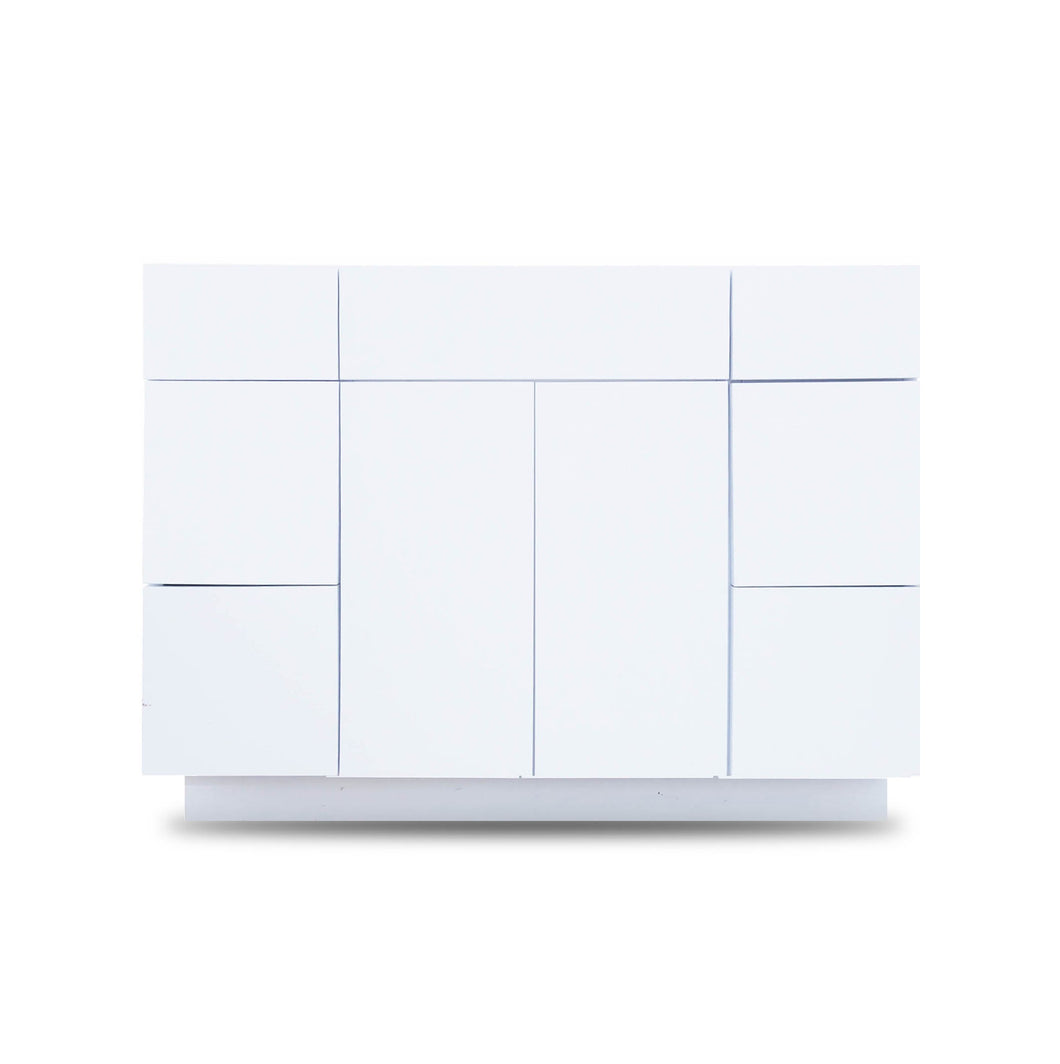 48 Inch Bathroom Cabinet Vanity Blanco Polished  LEFT/Right  Drawers
