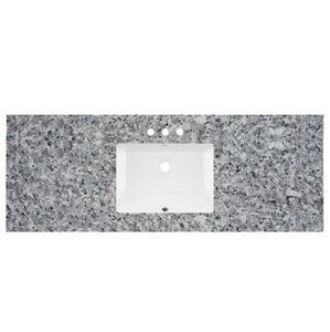 "61"" Wide X 22"" Deep Prefab Vanity Top Swan Grey 2cm 5700"