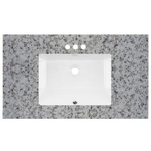 "37"" Wide X 22"" Deep Prefab Vanity Top Barala White 2cm 5704"