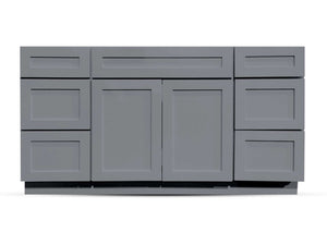 60 Charcoal Shaker Drawers Left/Right