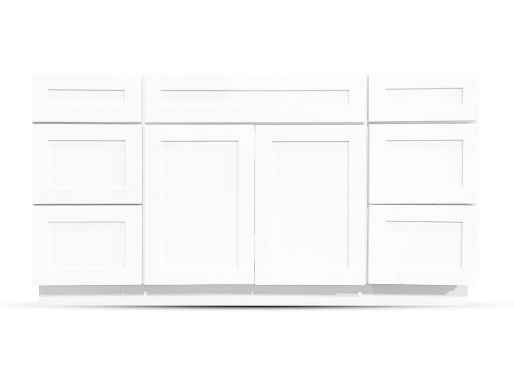 48 Bright White Shaker Drawers Left/Right