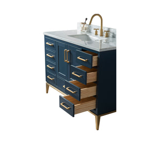 60 Inch Wide Single Sink 1831 Blue