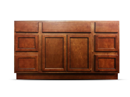 60 Inch Bathroom Cabinet Vanity Flat Panel Ginger Two Sides Drawers