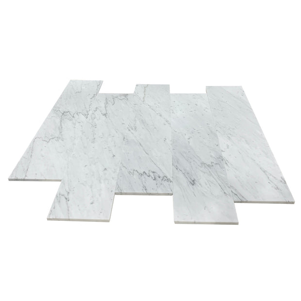 Load image into Gallery viewer, 6 x 24 Carrara Marble 4572