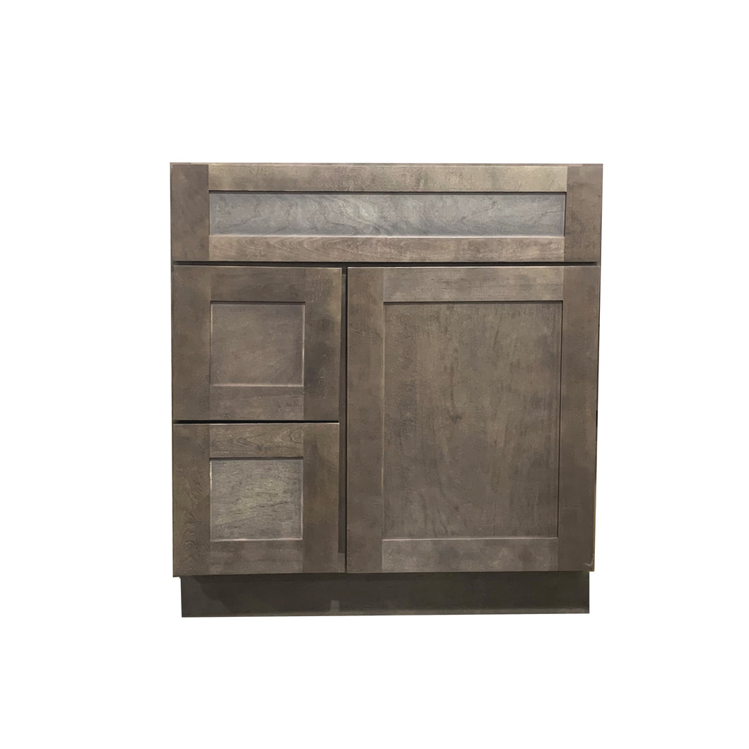 30 Inch Bathroom Cabinet Vanity Coal Shaker Left Drawers