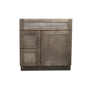 36 Inch Bathroom Cabinet Vanity Coal Shaker Right Drawers