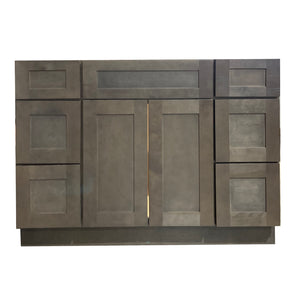 48 Inch Bathroom Cabinet Vanity Coal Shaker Two Sides Drawers