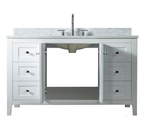 60 Inch Wide Single Sink 1906 - Elaine White