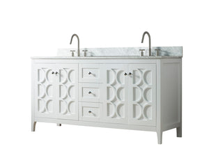 60 Inch Wide Double Sink 1906 - Elaine White