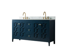 Load image into Gallery viewer, 60 Inch Wide Double Sink 1906 - Elaine Blue