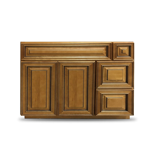36 Inch Bathroom Cabinet Vanity Amber Right Drawers