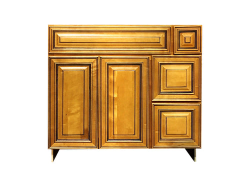 36 Inch Bathroom Cabinet Vanity Amber Left Drawers