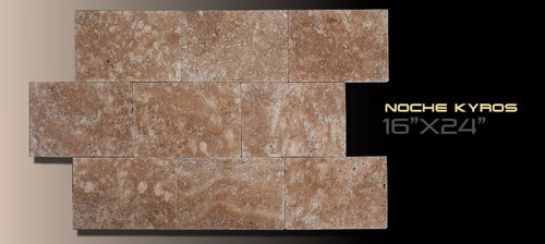 French Pattern Travertine Kyros Noche