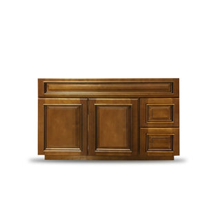 "32.5"" High - Old Height Vanity - VA8-Heritage Caramel-V4221D- LEFT"
