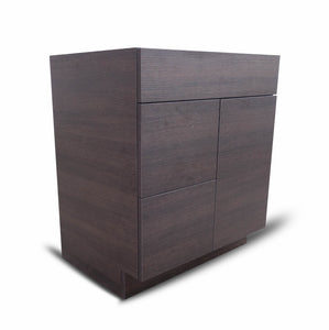 30 Inch Bathroom Cabinet Vanity African Wenge  Right  Drawers