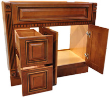 "Load image into Gallery viewer, 32.5"" High - Old Height Vanity - VA4-Fluted Heritage Caramel-V3621DH Left"
