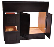 Load image into Gallery viewer, 36 Inch Bathroom Cabinet Vanity Shaker Espresso Left Drawers
