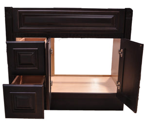 42 Inch Bathroom Cabinet Vanity Heritage Espresso Left Drawers