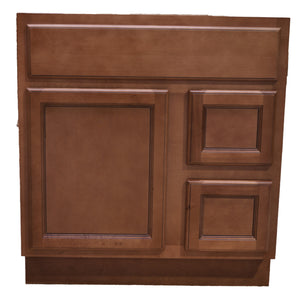 30 Inch Bathroom Cabinet Vanity Flat Panel Ginger Right Drawers