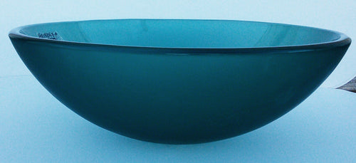 Round Tempered Glass Vessel Sink -