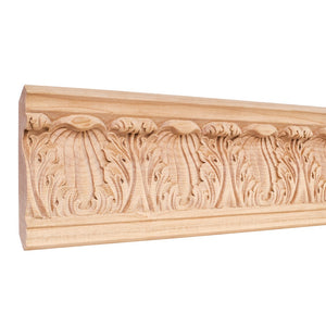 "4-3/4"" x7/8"" x 96"" Hand Carved Moulding - Basswood"