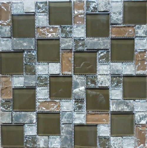 Crackled HLM48-233 12x12 Mosaic Tile