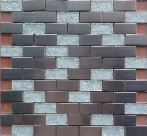 Stainless HLX8-23W 12x12 Mosaic Tile