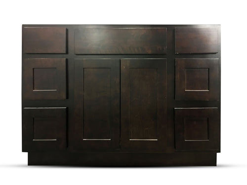 48 Inch Bathroom Cabinet Vanity Shaker Espresso Right Drawers