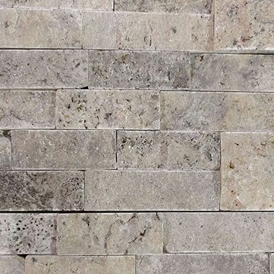 Split Face Silver Travertine 6x24