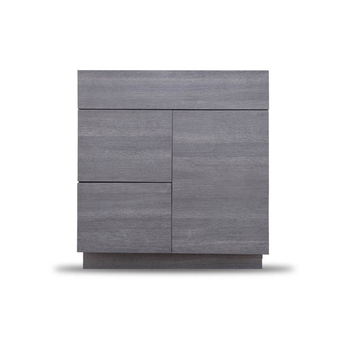 30 Inch Bathroom Cabinet Vanity Strand Grey Left  Drawers