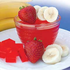 Banana Strawberry Gelatin Mix (7 Packets)
