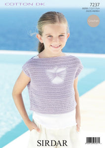 Sirdar Crochet Pattern 7237: Top in Cotton DK