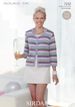 Load image into Gallery viewer, Sirdar Pattern 7232: Cardigan in Soukie DK