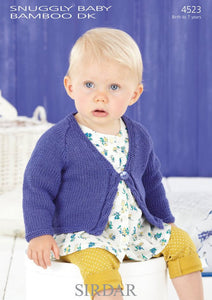Sirdar Pattern 4521: Striped Sweater in Baby Bamboo DK