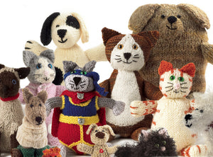 Knitted Cats & Dogs by Sue Stratford