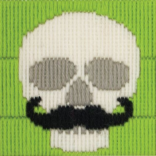 Anchor 1st Long Stitch Kit: 30020 Skull with Moustache