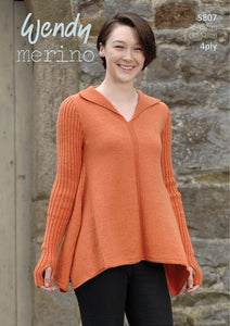 Wendy Pattern 5807: Sweater in Merino 4 Ply