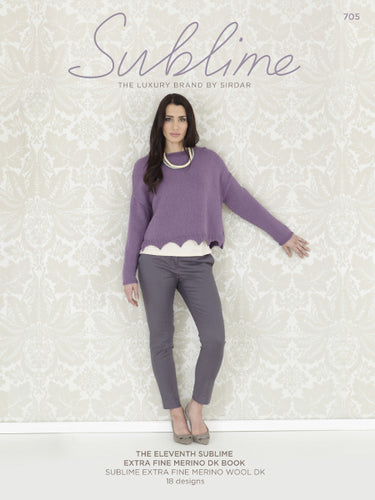Sublime Booklet 705: The 11th Extra Fine Merino Wool DK Book