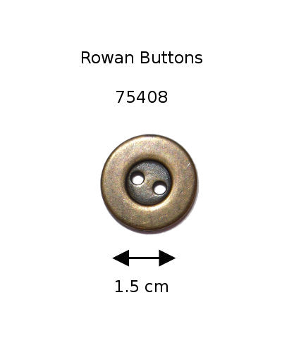 Rowan Button 75408: Antique Brass