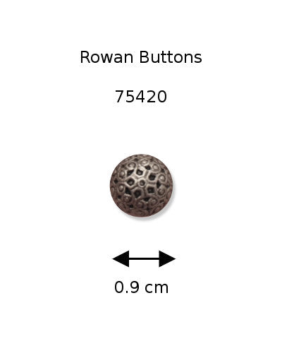 Rowan Button 75420: Silver Filigree