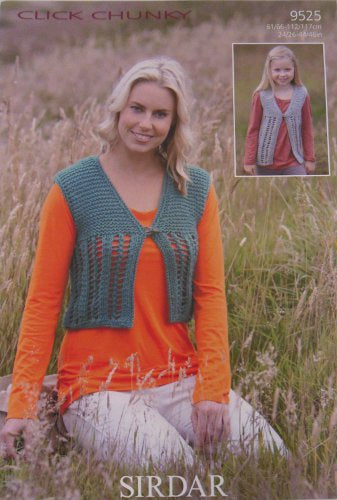 Sirdar Pattern 9525: Waistcoat in Click Chunky