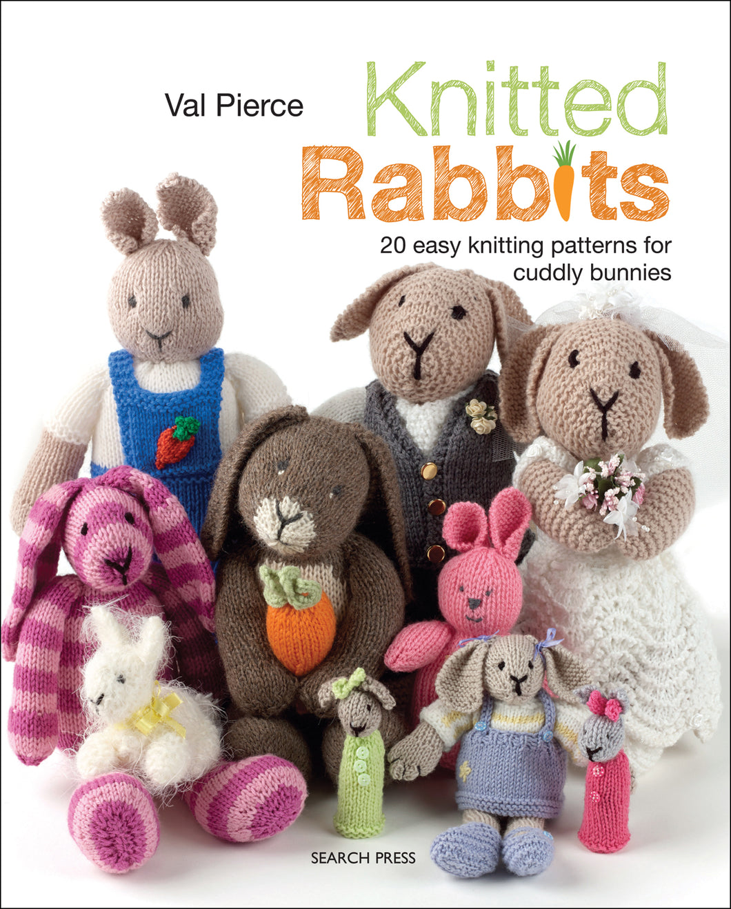Knitted Rabbits by Val Pierce