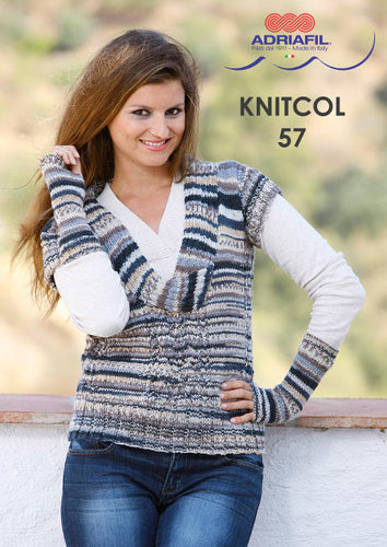 Adriafil Pattern: Botticelli Top in Knitcol