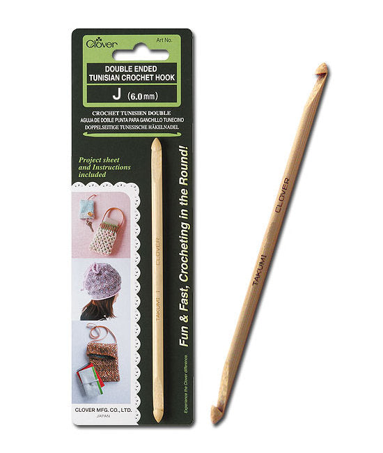 Clover Double Ended Tunisian Crochet Hook: CL1308 6mm