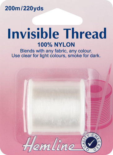Hemline H240: Clear Invisible Thread 200m Reel