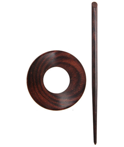 KP20836 Knitpro Symfonie Wood Rose Shawl Pin: Orion
